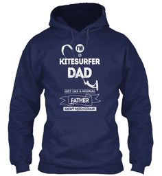 Limited Time   Kitesurfer Dad Navy Sweatshirt Front
