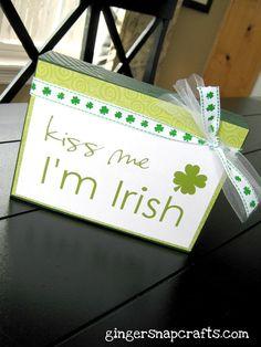 Kiss Me I'm Irish Block #craft #tutorial