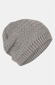db578f83097dd Topshop Two Tone Zigzag Beanie available at  Nordstrom Topshop Hats