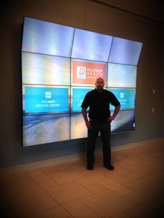 Digital donor recognition video wall up and running at Palomar Health in Escondido.