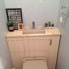 リメイク缶/フェイクグリーン/タンクレス風/タンクレス DIY/トイレ改造計画…などのインテリア実例 - 2016-03-01 08:26:03 | RoomClip(ルームクリップ)