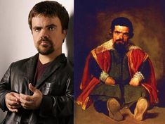"""This is crazy! Not only do these two guys look alike…but they're both """"little people."""" This portrait by Diego Velázquez is of Sebastián de Morra, a dwarf and jester at the court of Philip IV of Spain way back in Nicolas Cage, Keanu Reeves, Celebrity Twins, Celebrity Look Alike, Celebrity Doppelganger, Celebrity Photos, 21 Jump Street, Eddie Murphy, John Travolta"""
