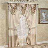 Elegante Tailored Curtain Pair Light Cream