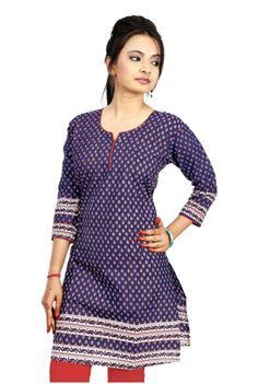 Shop Rajasthan Rayon Cotton Off At Naaptol:- Look graceful and appealing in this pretty kurta from Shop Rajasthan.This kurta will keep you comfortable throughout the day. Club it with leggings and strappy sandals to complete your look. Kurtha Tops, Kurta Patterns, Sewing Blouses, A Line Kurta, Kurti Neck Designs, Dress Making Patterns, Fashion Sketches, Dresses For Work, Fashion Outfits