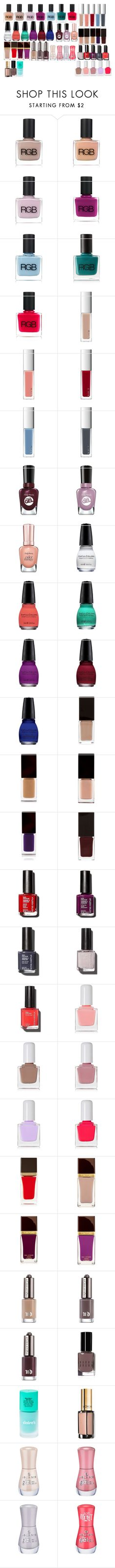 """""""Untitled #1828"""" by azra-99 ❤ liked on Polyvore featuring beauty, RGB Cosmetics, RGB, RMK, Sally Hansen, SinfulColors, Serge Lutens, Sonia Kashuk, tenoverten and Tom Ford"""