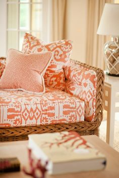 Cool corals in Southampton, by Leta Austin Foster interiors