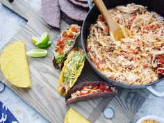 Easy Crockpot Recipes: Braised Mexican Chicken perfect for taco night.