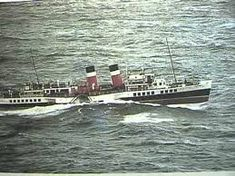 Paddle Steamer Waverley sails from Redbay N. Ireland along the Antrim coast Titanic Poster, Steam Boats, Ferry Boat, Paddle Boat, Parasailing, Tug Boats, Boat Rental, Boat Tours, Water Crafts