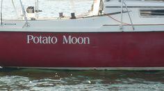 POTATO MOON Boat Names, Potatoes, Moon, Home Decor, The Moon, Decoration Home, Room Decor, Potato, Interior Decorating