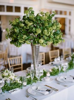 """Fact: bridesmaids rocking stripeyKate Spadesadd an instant """"cool factor"""" to any wedding. A sort of preppy-meets-modern statement that feels easy and polished all at once. And when those 'maids happen to be amongst a day crafted byShannon Leahy Events,Michael Daigian DesignandGot Light"""