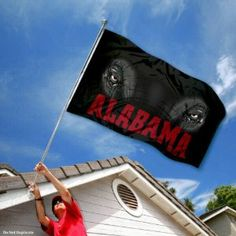 Alabama Crimson Tide Roll Tide University Large College Flag by College Flags and Banners Co.. $29.95. College Logos viewable on Both Sides (Opposite side is a reverse image). 3'x5' in Size with two Metal Grommets for attaching to your Flagpole. Officially Licensed and Approved by University of Alabama. Perfect for your Home Flagpole, Tailgating, or Wall Decoration. Made of Polyester with Quadruple-Stitched Flyends for Durability. Our Alabama Crimson Tide Flag measures 3x5 feet ...