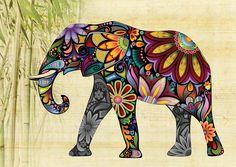 слон Indian Elephant Art, Colorful Elephant, Indian Art, Elephant Blanket, Elephant Applique, Elephant Tapestry, Outdoor Floor Mats, Indoor Outdoor, Elephant Silhouette