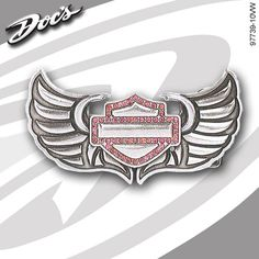 Pink Harley Davidson Logo | Harley-Davidson Womens Winged Bar & Shield Logo Buckle ...