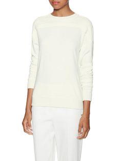 Contrast Wool Corded Lace Sweatshirt by Jason Wu at Gilt