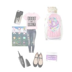 """""""Harajuk-who?!"""" by gillian-vollenweider on Polyvore featuring Japan L.A., FCTRY, Maybelline, Mavi and Acne Studios"""