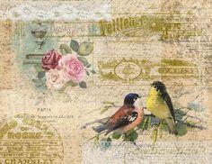 Junk Journal, Journal Ideas, Scrapbook Paper, Scrapbooking, Vintage Art Prints, Paper Background, Vintage Pictures, Vintage Paper, Cute Art