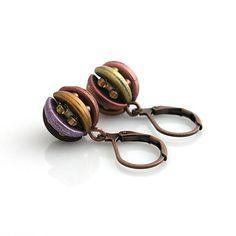 Crescent beads beaded earrings  http://www.sashe.sk/kacenkag/detail/mesiacikove-farebne