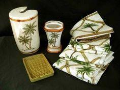 Palm Tree Bathroom Set