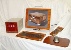 wooden veneer computer casing photo