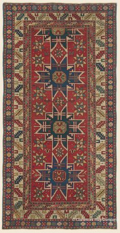 Caucasian rug from prized Lesghi tribe, panoply of century rugs of the Caucasus, some of the best revealed an especially elemental and primitive designs. Persian Carpet, Persian Rug, Art Chinois, African Artwork, Rug Company, Art Japonais, Magic Carpet, Tribal Rug, Modern Rugs