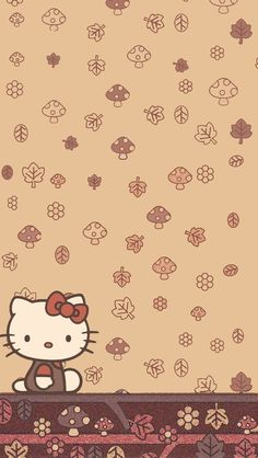 Hello Kitty Fotos, Hello Kitty Themes, Hello Kitty Imagenes, Hello Kitty My Melody, Fall Background Wallpaper, Iphone Wallpaper Fall, Cellphone Wallpaper, Hello Kitty Halloween, Sanrio Wallpaper