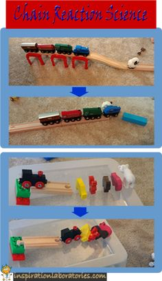 Chain Reaction Science - use trains to explore higher level cause and effect relationships