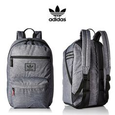 5563a1bc04c Adidas Originals National Backpack   Heather Granite   Click for More Adidas  Backpacks! Adidas Backpack
