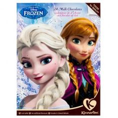 Frozen design Advent Calendar. Count down the days till Christmas with a chocolate a day, foiled for freshness & nut safe.