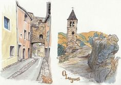 De passage dans l'Hérault, j'ai avisé une voie verte et au bout de la voie, un très joli village avec trop de chouettes choses à regarder. Si , c'est un format A4 :D Et il y avait aussi plein de chats, celui ci venait de se faire expulser par une touriste qui emménageait dans un meublé juste à côté, il m'a regardé un moment en gardant toute sa dignité :)