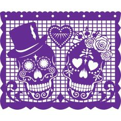 Silhouette Design Store View Design 57436 Papel Picado Amor Eterno Papel Picado Mexican Art Mexican Folk Art