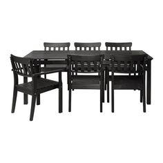 ÄNGSÖ Tisch+6 Armlehnstühle/außen IKEA