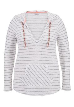 Maurices March 2015 striped plus size pullover with hood (original price, $36) available at #Maurices