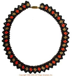 Ukrainian Gherdany Beadwork  # 05-6088 handmade in Ukraine. Originally sold on http://www.allthingsukrainian.com/Jewelry/index.htm