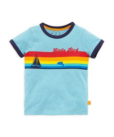 Little Bird by Jools Blue Rainbow T-Shirt - t-shirts & tops - Mothercare
