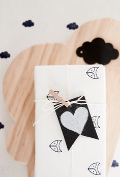Customize wrapping paper with rubber stamp. What do you think about a little fox rubber stamp?