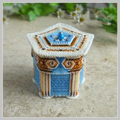 Mini Greek Temple Keepsake Box Beaded Box by FrancescasFancy