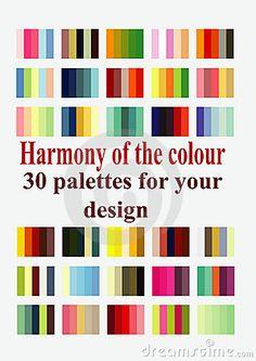 Vector illustration harmonious color palettes for design