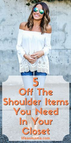 """If you have the right style, anyone can pull off the """"off the shoulder"""" look. Don't be afraid to give it a try! We've got a few items that everyone should keep in their closet."""