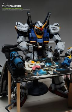 PG Gundam MK-II Diorama made by Artman Korea, Below is his real address
