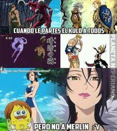 El orgullo no le alcanza a llegar hasta ahí al papu Escanor Otaku Anime, All Anime, Manga Anime, Seven Deadly Sins Anime, 7 Deadly Sins, Gorillaz, Merlin, Space Drawings, Seven Deady Sins