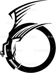 Tribal Ouroboros Dragon ❥❥❥ https://tattoosk.com/tribal-dragon-tattoo#123