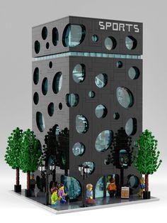 Sporting Goods Store - lego x building - # sporting goods store Lego Moc, Lego Minecraft, Minecraft Skins, Lego Lego, Lego Games, Minecraft Buildings, Lego Modular, Lego Design, Lego Batman