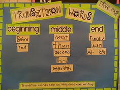 Transition words for procedural writing Work On Writing, Writing Words, Writing Lessons, Writing Workshop, Readers Workshop, Writing Ideas, Procedural Writing, Narrative Writing, Kindergarten Writing