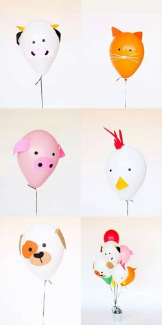 DIY Birthday Party Decoration Ideas That Don't Cost You Much Farm birthday party balloon decorations Party Animals, Farm Animal Party, Farm Animal Birthday, Barnyard Party, Farm Birthday, Birthday Diy, Birthday Animals, Animal Themed Birthday Party, Birthday Parties