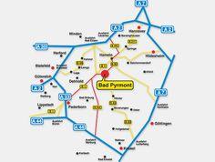 Anreise per Fahrzeug. 31812 Bad Pyrmont in Mitten des schönen Weserberglandes 08.-10.Juli.2016 1. Pyrmonter Wirtschaftswunder www.pyrmonter-wirtschaftswunder.de