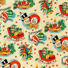 Vintage X-Mas Wrap, Awesome!