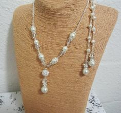 Wedding Jewelry Back Drop Necklace Bridesmaid by SLDesignsHBJ
