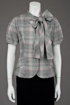 New Paul Smith Gray Plaid Short Sleeve Jacket