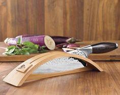 "Shun Edo 8"" Chef's Knife With Stand"