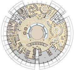 InterContinental Hangzhou Architecture Drawing Plan, Hotel Architecture, Organic Architecture, Architecture Design, Office Floor Plan, Hotel Floor Plan, House Floor Plans, Restaurant Plan, Restaurant Seating